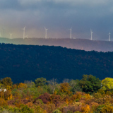 Wind Farm with Rainbow